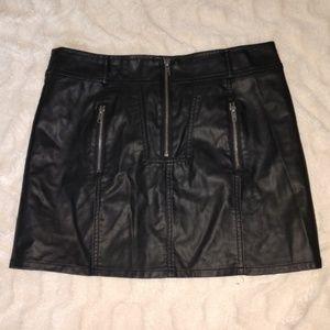 Allen B leather look miniskirt